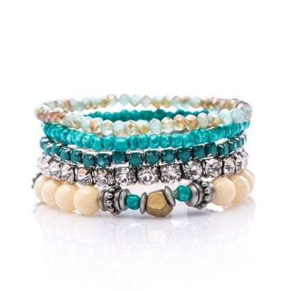 Elle Layered Bead Bracelet Set - Baublebeads
