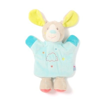 Turquoise Cow Puppet Soft Toys - Sucre D'Orge