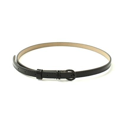 Thin Black Pvc Belt - Ribbon
