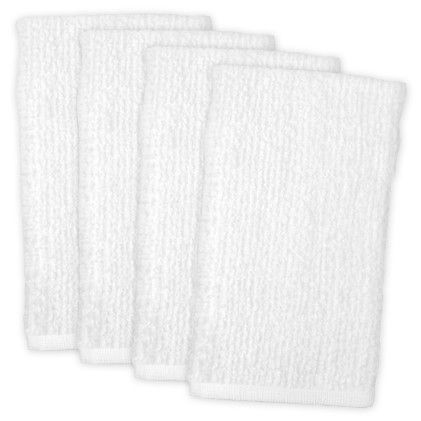 Barmop Towel White  Set Of 4 - Design Imports