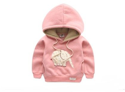 Pink Elephant Warm Cozy Sweatshirt By Mauve - Mauve Collection