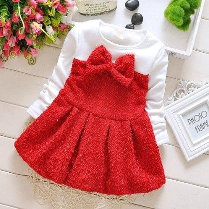 Bow Dress Red - Prince Town