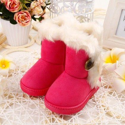 Soft Fur Dark Pink Boots - Oh Pair