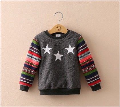 Grey Style Sleeves Sweatshirt By Mauve - Mauve Collection