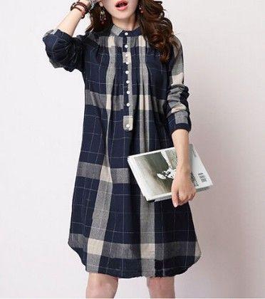 Navy Blue Dress - Drape In Vogue - 231388