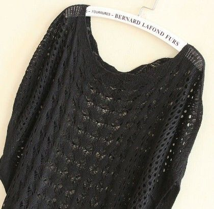 Crochet Black Tops - Dells World