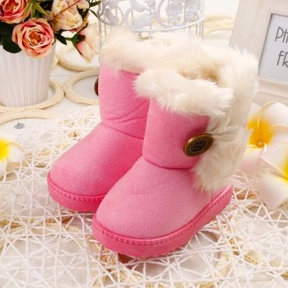 Soft Fur Light Pink Boots - Oh Pair