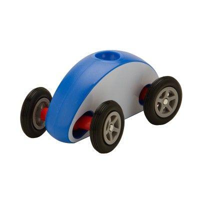 Wonky Wheels White-w Blue Stripe - PlaSmart
