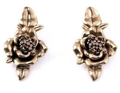 Gold Beauty Earring- Antique Gold - Shu Sam & Smith