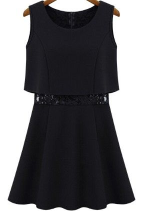 Black Flare Dress - Oomph
