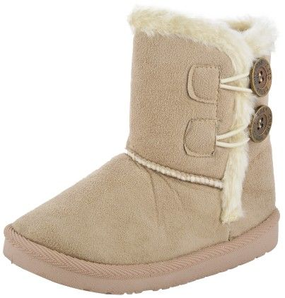 Willy Winkies Furry Boots In Beige