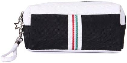 Uberlyfe White And Black Pencil Pouch For Kids