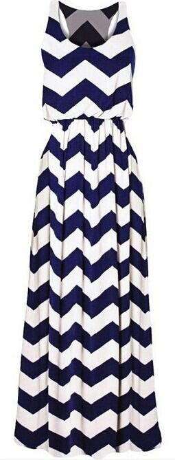 White And Blue Dress - Drape In Vogue