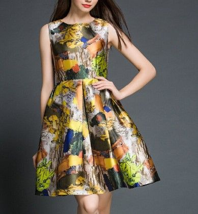 Abstract Dress Multi - Oomph