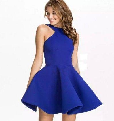 Blue Skater Dress - Oomph