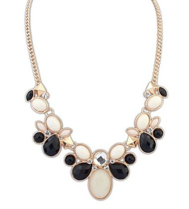Designer Chain Black And White Necklace - The Dressing Loft