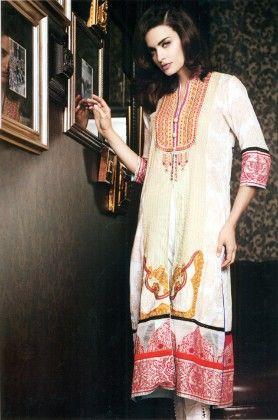 Festive Kurti Collection Beige - Mauve Collection