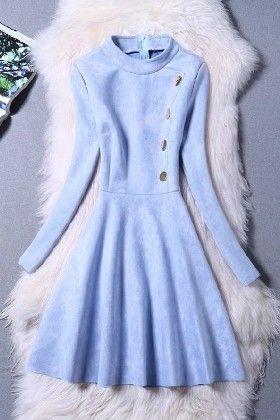 Light Blue Dress - Drape In Vogue