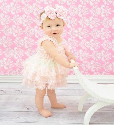 Light Pink & White Lace Dress - Dress Up Dreams