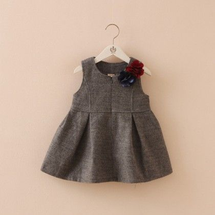 Grey Jingle Bell Frock - Lil Mantra
