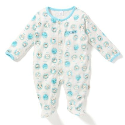 Poodle Allover Print Soft Sleepsuit - TOFFYHOUSE