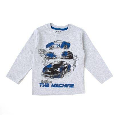 The Machine Full Sleeves T-shirt - Gray - Do Re Me