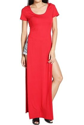 Red Maxi Dress - Oomph