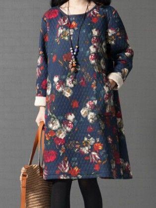 Navy Blue Dress - Drape In Vogue