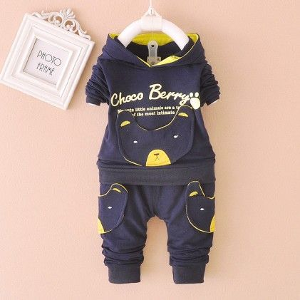 Navy Choco Berry Tracksuit - Lil Mantra