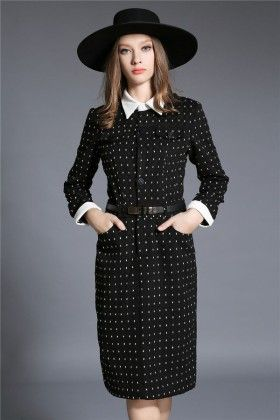 White Dotted Dress - Drape In Vogue