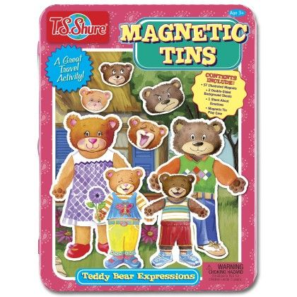 Teddy Bear Expressions Magnetic Tin Play Set - TS Shure