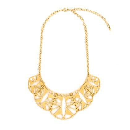 Aisha Sun Ray Scallop Necklace - Baublebeads
