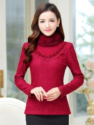 Fur Lace Top For Winter By Mauve - Mauve Collecton