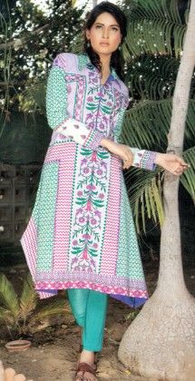Embroidered Kurti Collection - Mauve Collection - 226797