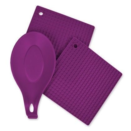 Purple 3 Piece Kitchen Accessory Set - Design Imports