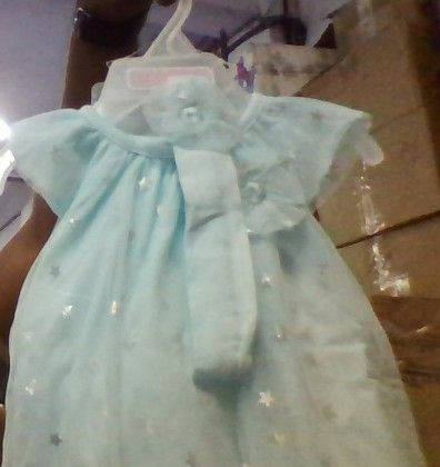 Sky Blue Petty Frock With Little Stars  (do Not Make Active) - The Children's Place
