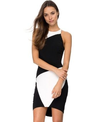Black And White Dress - Drape In Vogue