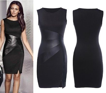 Cocktail Black Patch  Dress - Oomph
