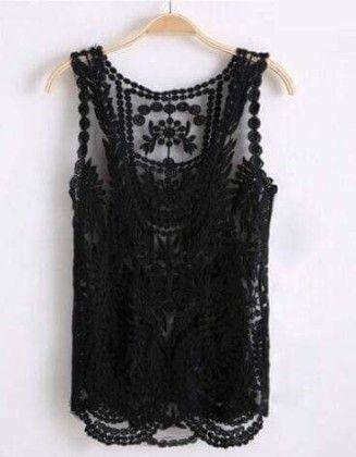 Cotton Lace Black Shrugs - Dells World