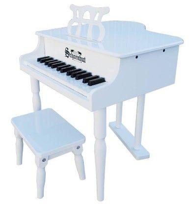 30 Key Classic Baby Grand (white) - Toy Piano