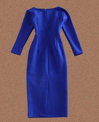 Blue - Dress - Drape In Vogue