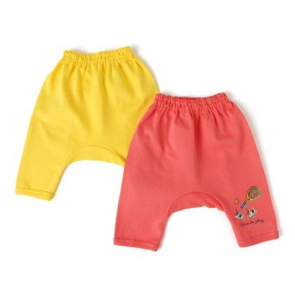 Yellow And Red Leggings Pack Of 2 - Ollypop