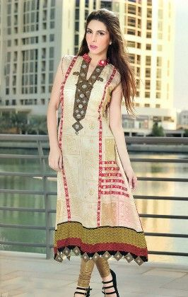 Embroidered Kurti Collection - Mauve Collection - 226792
