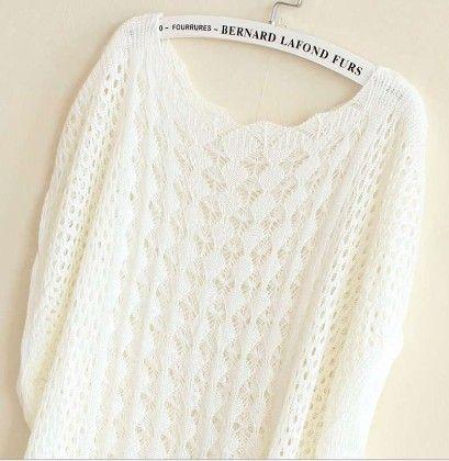 Crochet White Tops - Dells World