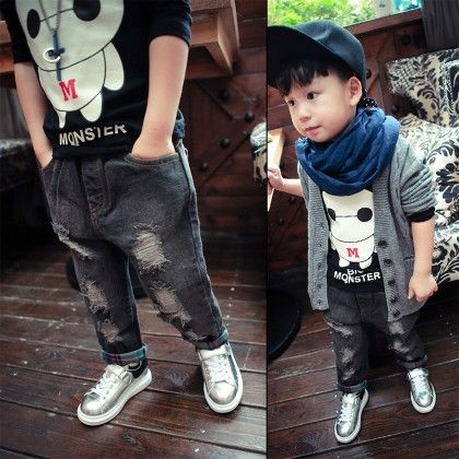 Torn Denim Jeans Pant - Lil Mantra