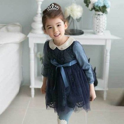 Blue Gala Girls Frock - Lil Mantra