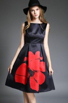 Dark Blue Dress - Drape In Vogue