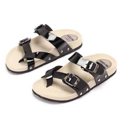 Casual Sandal With Black Stripe - Gift Shoes