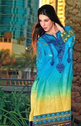 Embroidered Kurti Collection Blue - Mauve Collection