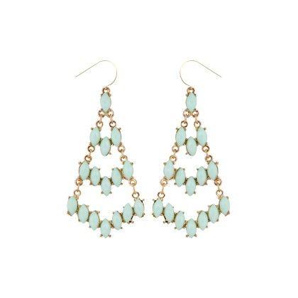 Delia Green Ascension Drop Earrings - Baublebeads